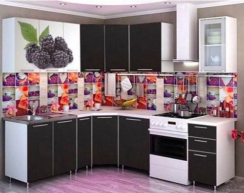 Кухня Фотопечать угловая 1,95*1,85